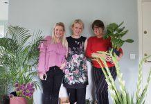 Anne, Nadia og Eva i stylingrotet