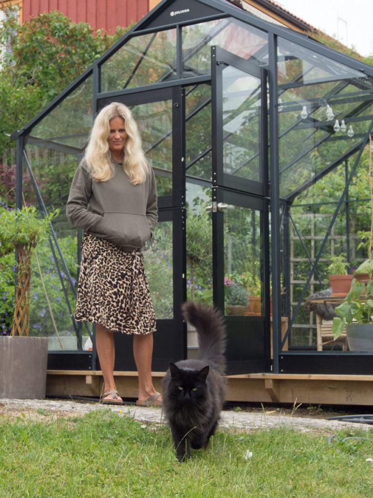 Mona og katten :)