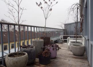 Bilde på balkongen tatt 14 mars